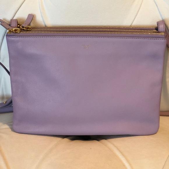 cb513ac7959f Celine Handbags - Celine Trio Lilac Leather Crossbody